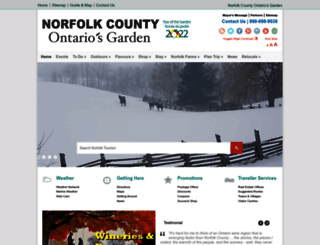 norfolktourism.ca screenshot
