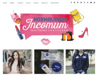 normalidadeincomum.com.br screenshot