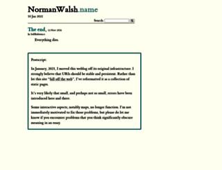 norman.walsh.name screenshot