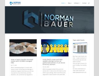 normanbauer.com screenshot