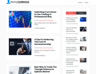 normsconference.com screenshot