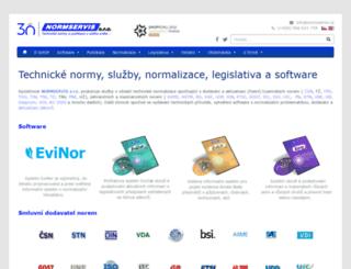 normservis.cz screenshot