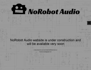 norobotaudio.com screenshot