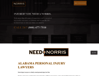 norrisinjurylawyers.com screenshot