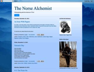 norsealchemist.blogspot.com screenshot