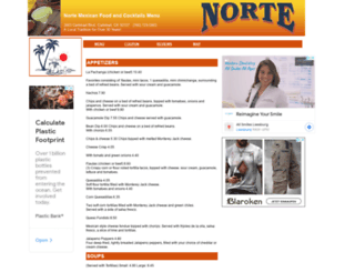 nortemexicanrestaurant.menutoeat.com screenshot