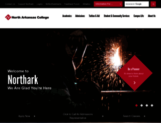 northark.edu screenshot