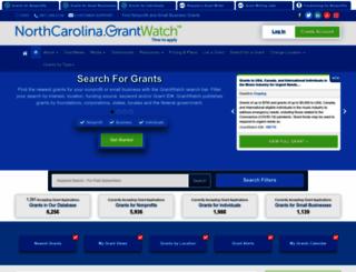 northcarolina.grantwatch.com screenshot