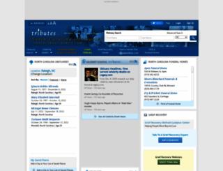 northcarolinaobits.tributes.com screenshot