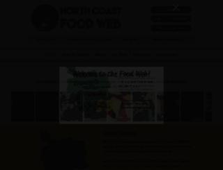 northcoastfoodweb.org screenshot