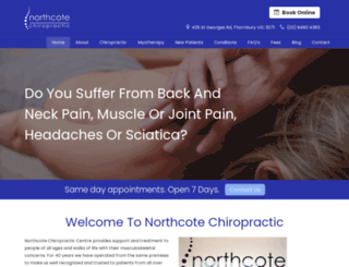 northcotechiropractic.com screenshot