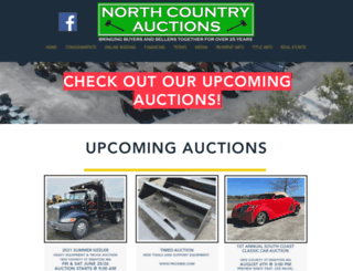 northcountry-auctions.com screenshot