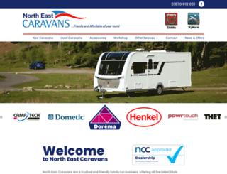 northeastcaravans.co.uk screenshot