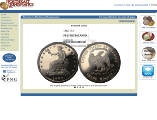 northeastcoins.com screenshot