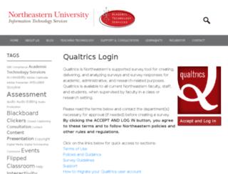 northeastern.qualtrics.com screenshot
