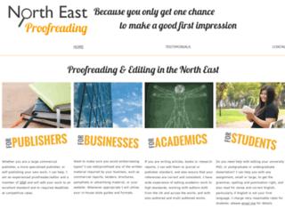 northeastproofreading.co.uk screenshot