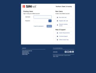 northern.simnetonline.com screenshot