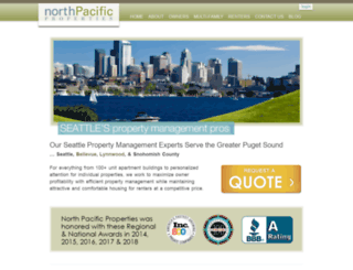 northpacificpropertymanagement.com screenshot