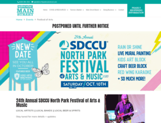 northparkfestivalofarts.com screenshot