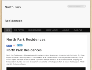northparkresidencessingapore.com screenshot