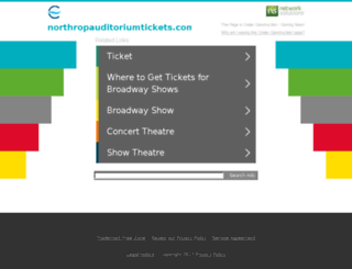 northropauditoriumtickets.com screenshot