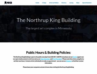 northrupkingbuilding.com screenshot