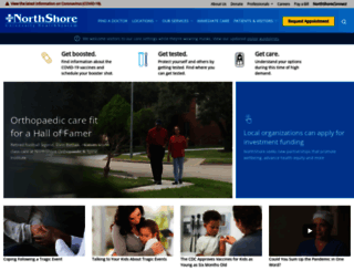 northshore.org screenshot