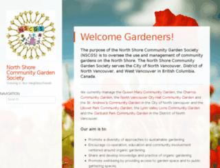 northshorecommunitygardensociety.ca screenshot