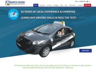 northshoredrivingschool.com.au screenshot