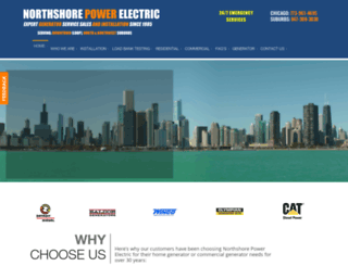 northshorepowerelectric.com screenshot
