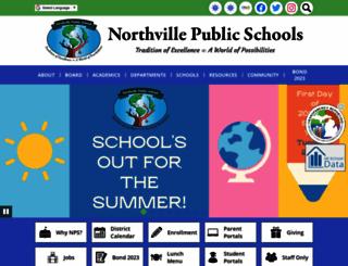 northvilleschools.org screenshot