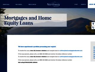 northwaybank.mortgagewebcenter.com screenshot