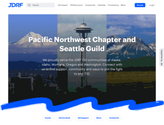 northwest.jdrf.org screenshot