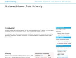 northwestmissouri.stateuniversity.com screenshot
