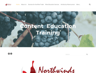 northwindswineconsulting.com screenshot