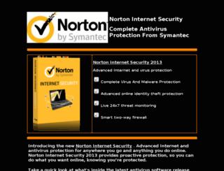 norton-internet-security-2013.com screenshot