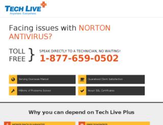 norton.techlivexpert.com screenshot
