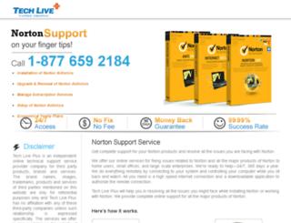 norton2.techlivexpert.com screenshot