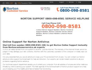 nortoncustomerservice.uk screenshot