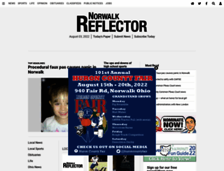 norwalkreflector.com screenshot