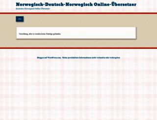 norwegischonline.wordpress.com screenshot