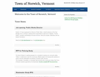 norwich.vt.us screenshot