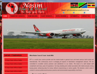 nosimtoursandtravel.com screenshot