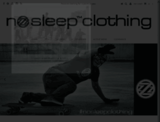 nosleepclothingstore.com screenshot