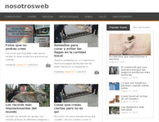 nosotrosweb.in screenshot