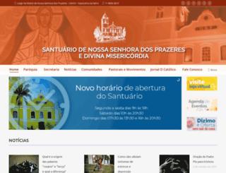 nossasenhoradosprazeres.com.br screenshot