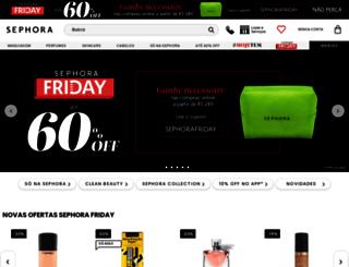 nossaslojas.sephora.com.br screenshot