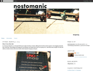 nostomanic.blogspot.com screenshot