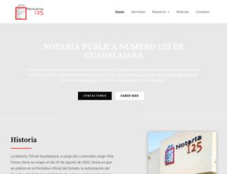 notaria125.com.mx screenshot