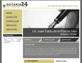 notaria24laschoapas.com.mx screenshot